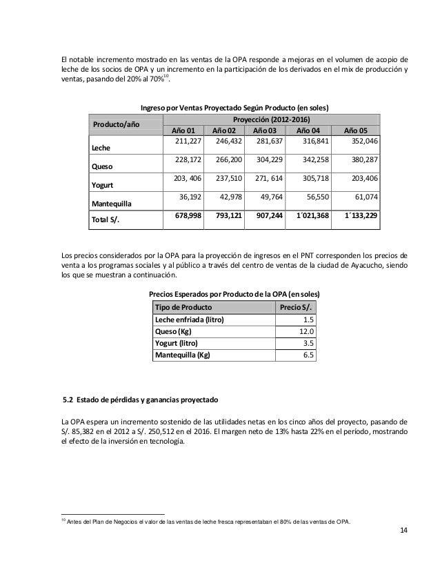 14El notable incremento mostrado en las ventas de la OPA responde a mejoras en el volumen de acopio deleche de los socios ...