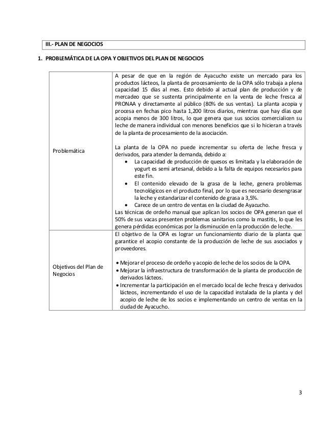 3III.- PLAN DE NEGOCIOS1. PROBLEMÁTICA DE LA OPA Y OBJETIVOS DEL PLAN DE NEGOCIOSProblemáticaA pesar de que en la región d...