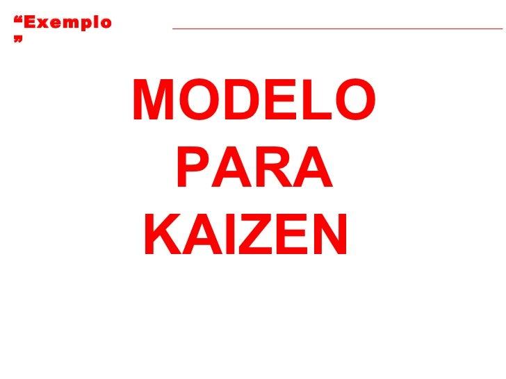 MODELO PARA KAIZEN