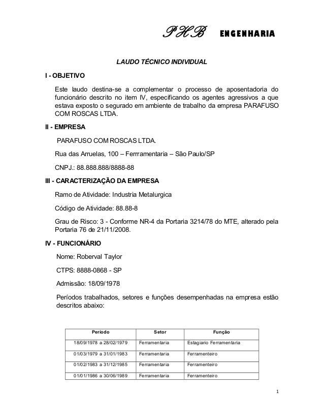 LAUDO TECNICO ELETRICO PDF DOWNLOAD