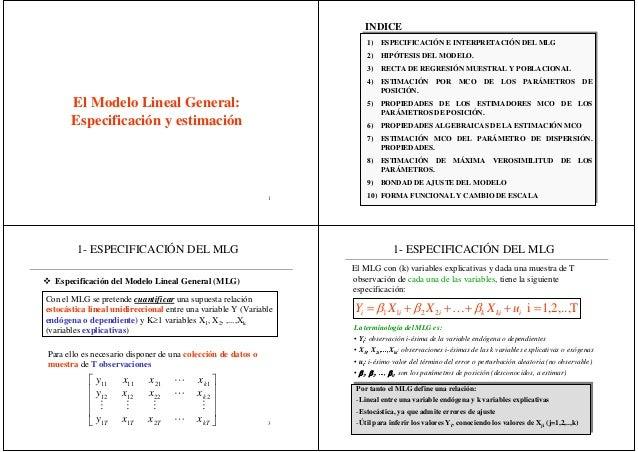1Tema 3Primera parteEl Modelo Lineal General:Especificación y estimaciónMonia Ben Kaabia21) ESPECIFICACIÓN E INTERPRETACIÓ...