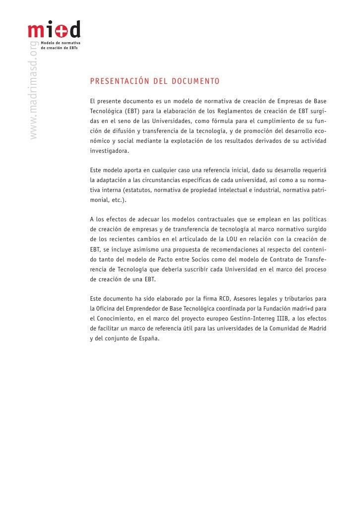 Modelo Madri+D Normativa Creacion Eb Ts Slide 2
