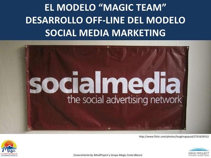 "EL MODELO ""MAGIC TEAM""<br />DESARROLLO OFF-LINE DEL MODELO<br />SOCIAL MEDIA MARKETING<br />http://www.flickr.com/photos/l..."