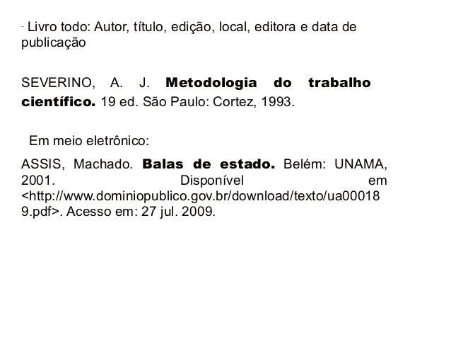 Exemplo monografia abnt