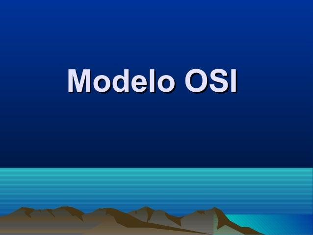 Modelo OSIModelo OSI