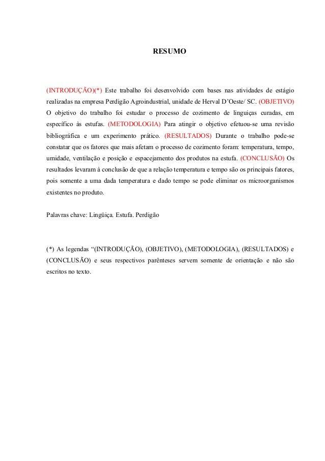 Introdução relatório exemplo