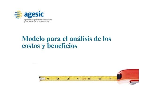 Modelo para el análisis de los costos y beneficios