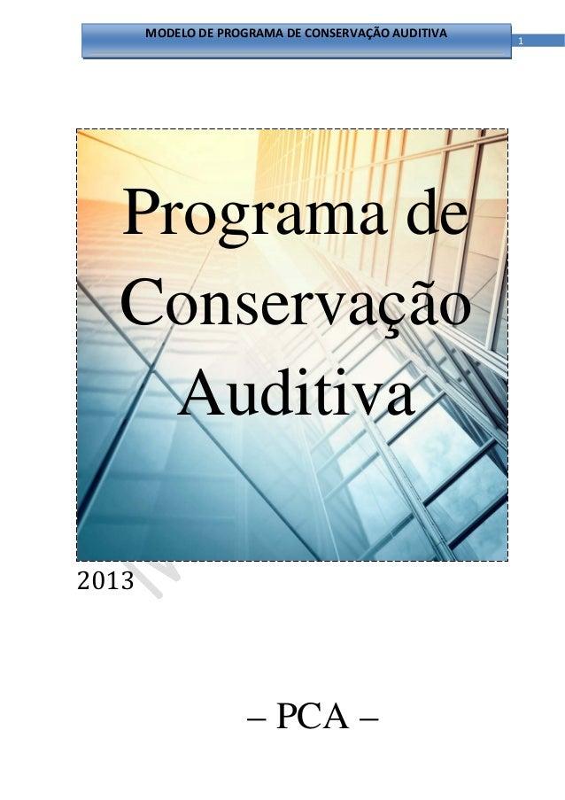 MODELODEPROGRAMADECONSERVAÇÃOAUDITIVA                                                         1                Pr...