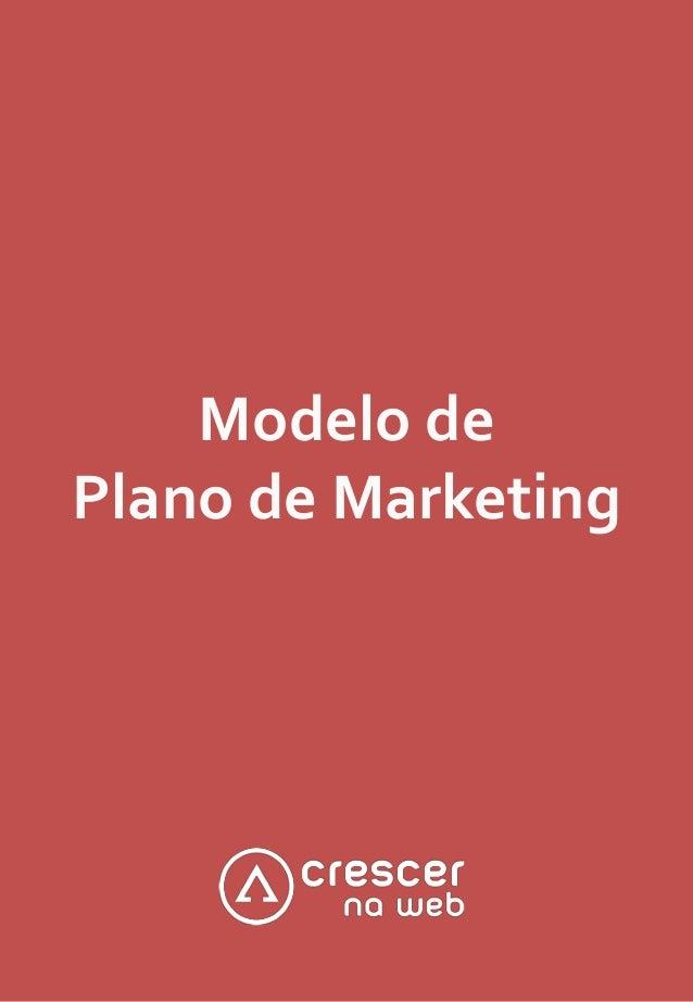 Modelo de Plano de Marketing