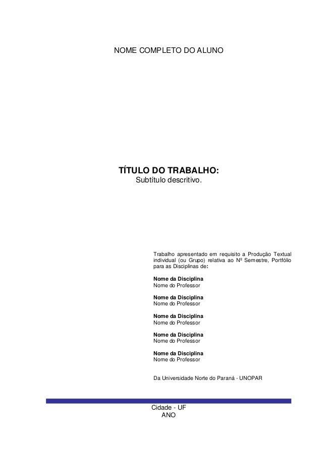 Exemplo de introdução para trabalho academico