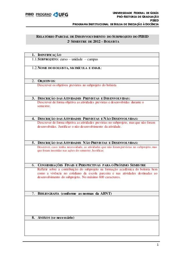 Modelo Relatorio Parcial20122bolsista