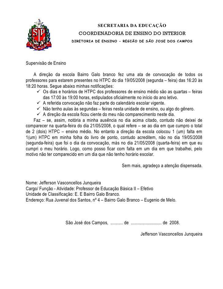 SECRETARIA DA EDUCAÇÃO                             COORDENADORIA DE ENSINO DO INTERIOR                         DIRETORIA D...