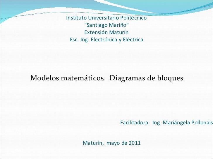 """Instituto Universitario Politécnico """"Santiago Mariño"""" Extensión Maturín Esc. Ing. Electrónica y Eléctrica <ul><li>Modelos ..."""
