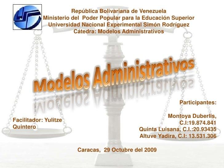 República Bolivariana de Venezuela             Ministerio del Poder Popular para la Educación Superior              Univer...
