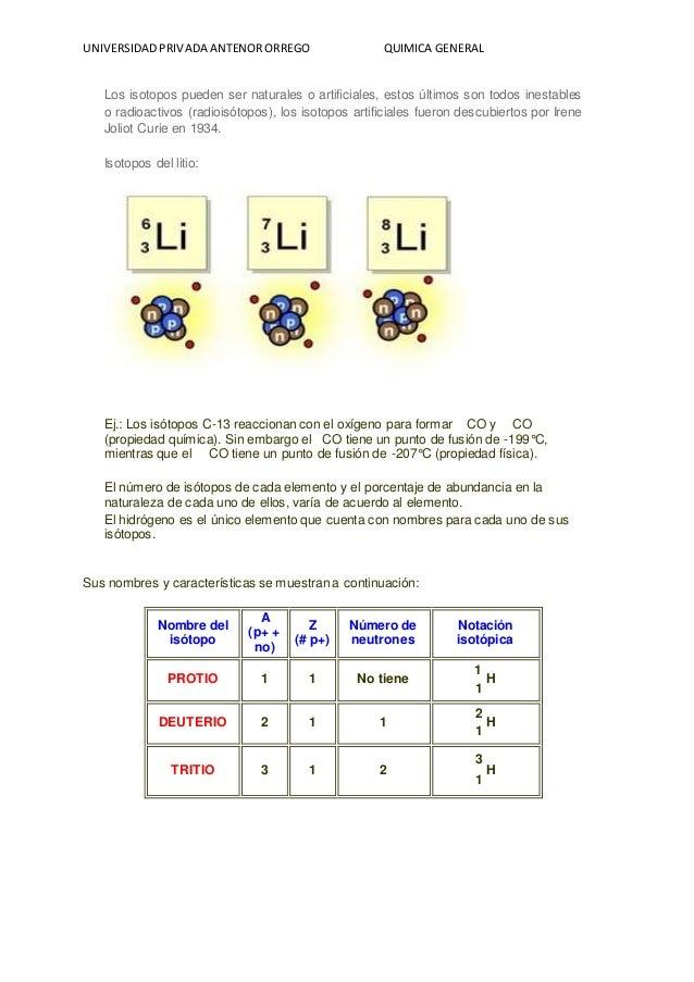 Modelos atmicos conf electronica de la tabla periodica iso igual topo lugar 16 universidadprivada antenororrego quimica general los isotopos urtaz Image collections