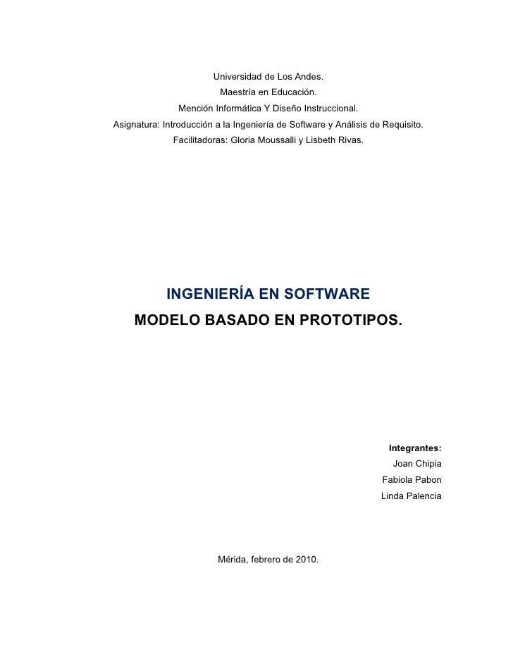 Universidad de Los Andes.                           Maestría en Educación.                 Mención Informática Y Diseño In...