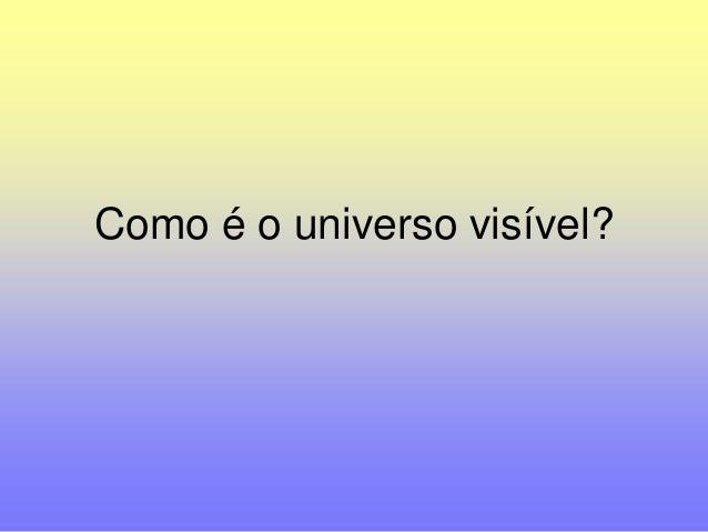 Como é o universo visível?