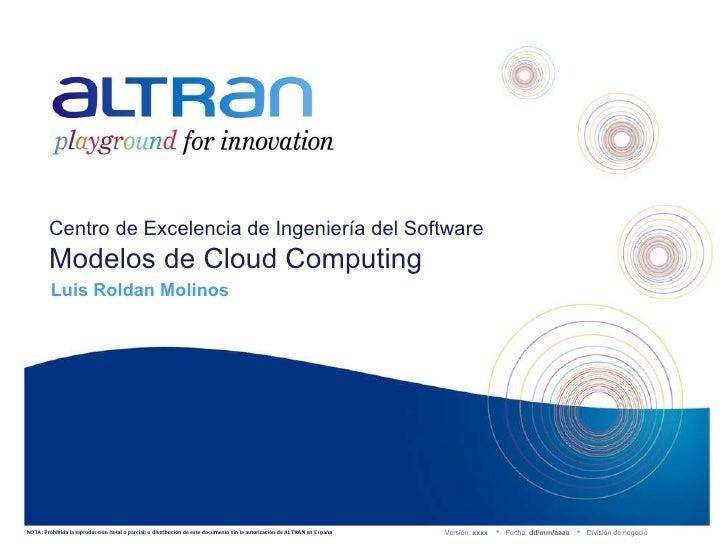 NOTA: Prohibida la reproducción (total o parcial) o distribución de este documento sin la autorización de ALTRAN en España...