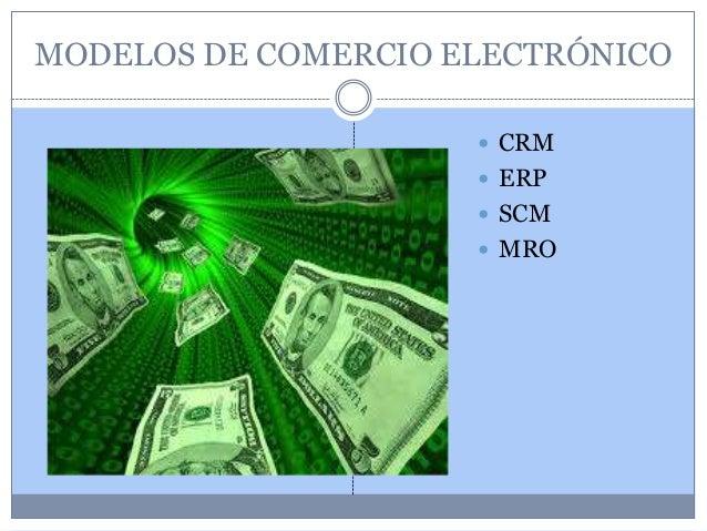 MODELOS DE COMERCIO ELECTRÓNICO                      CRM                      ERP                      SCM             ...