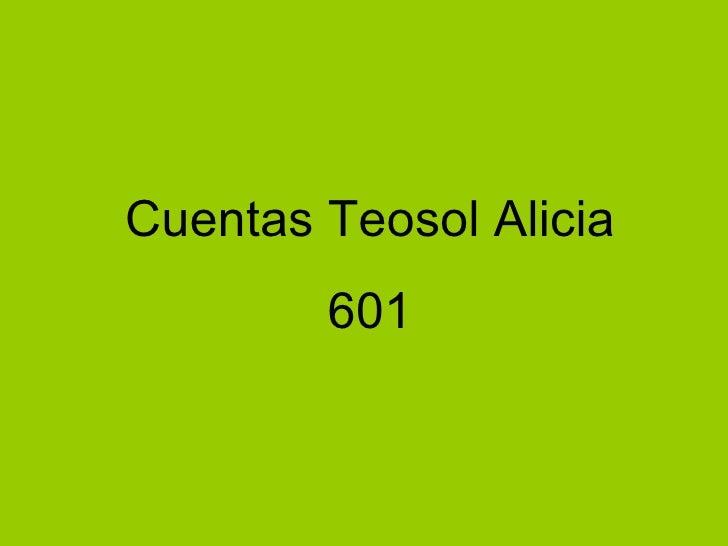 Cuentas Teosol Alicia 601