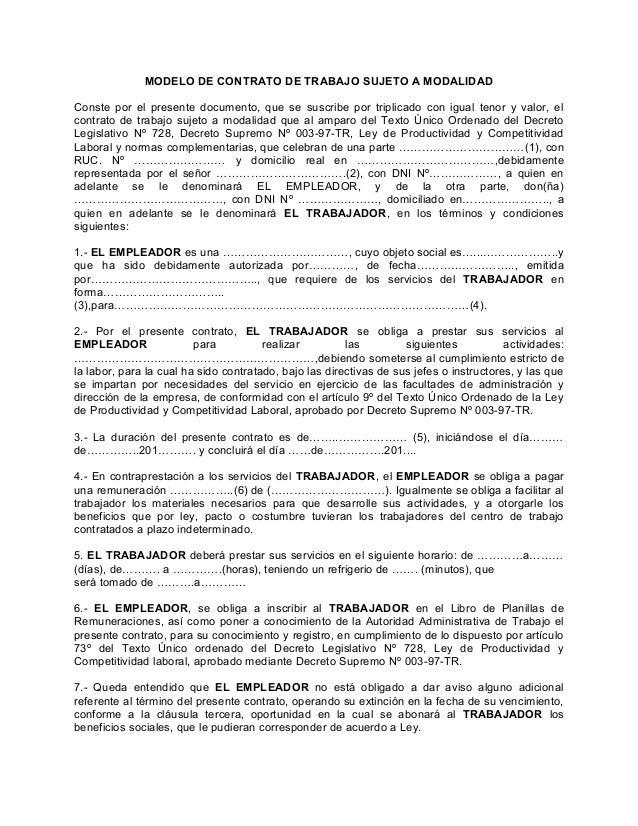 Modelos de contratos for Contrato documento
