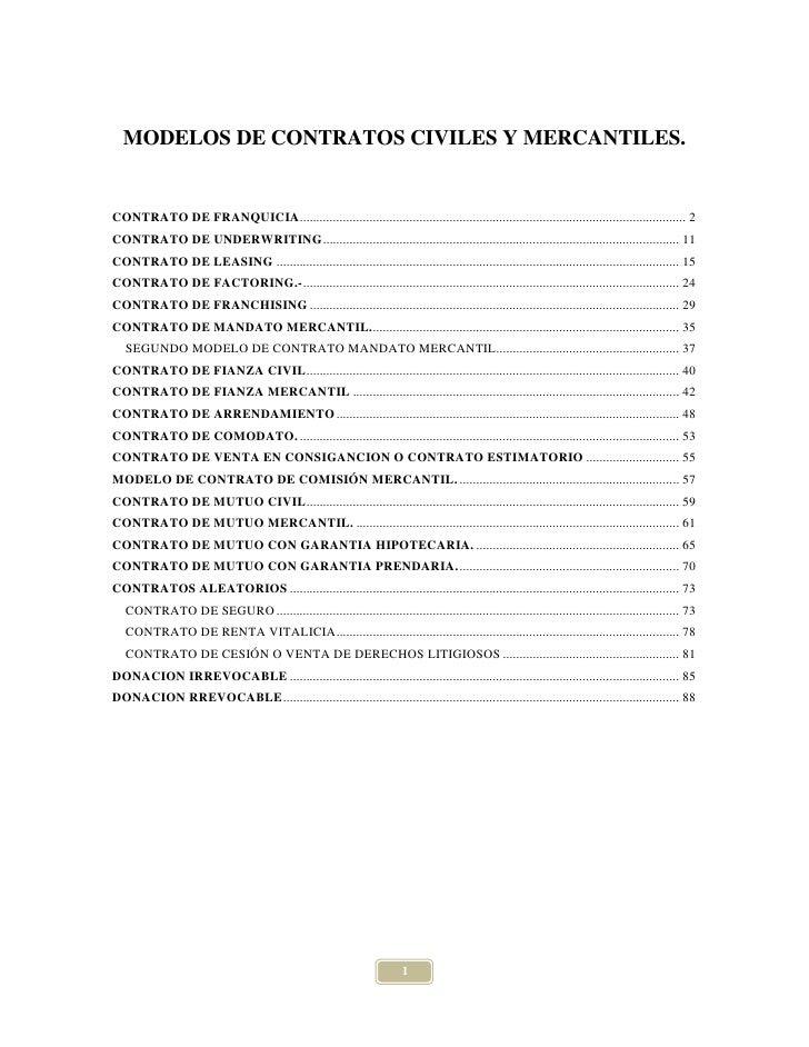 Modelos de contratos civiles y mercantiles   el salvador