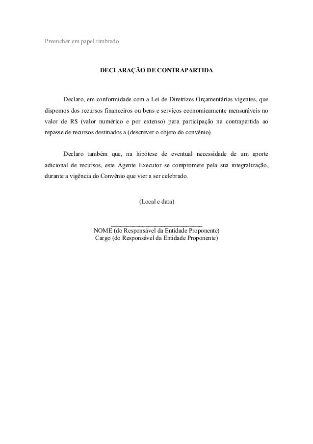 Modelos De Declaracoes
