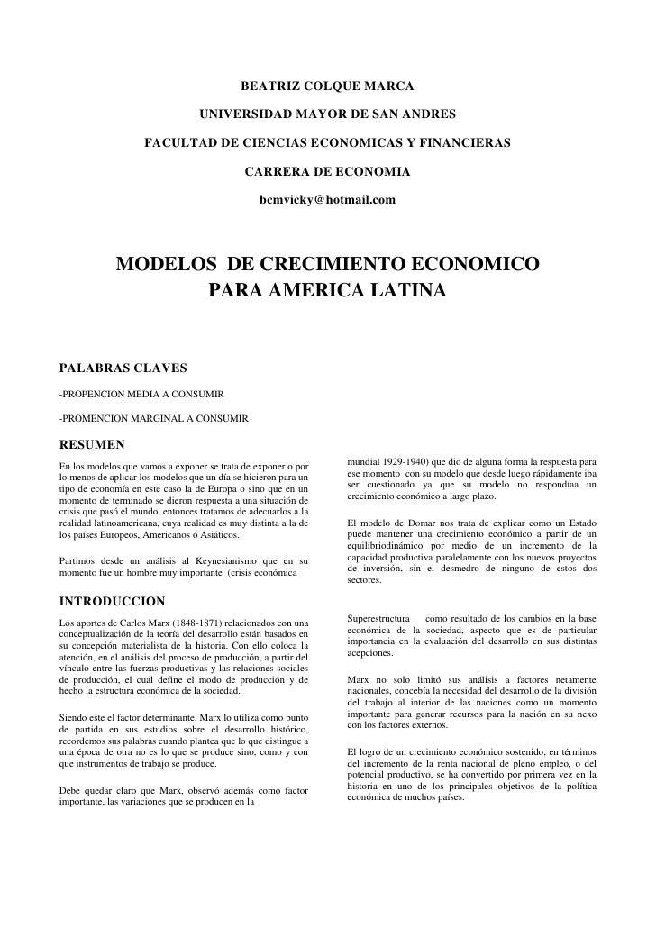 BEATRIZ COLQUE MARCA<br />UNIVERSIDAD MAYOR DE SAN ANDRES<br />FACULTAD DE CIENCIAS ECONOMICAS Y FINANCIERAS<br />CARRERA ...