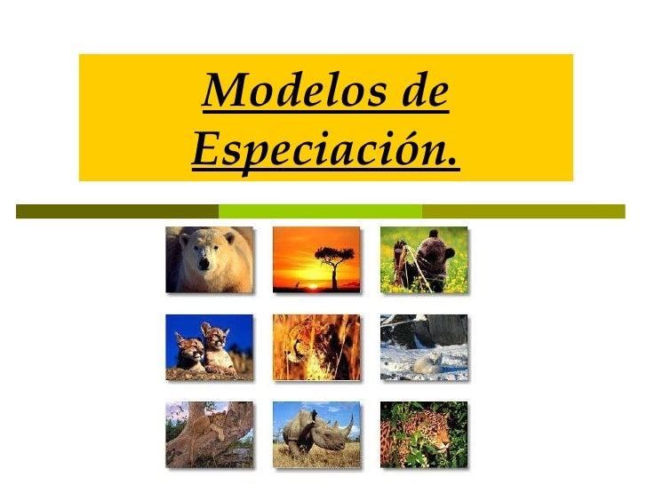 Modelos de Especiación.