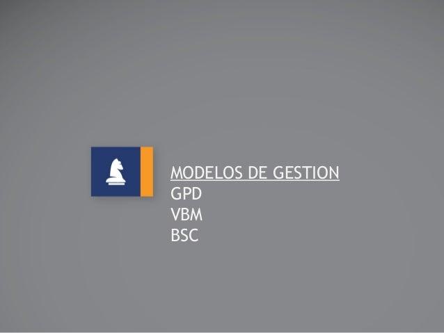 MODELOS DE GESTION GPD VBM BSC