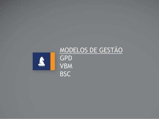 MODELOS DE GESTÃO GPD VBM BSC