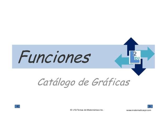 www.matematicaspr.com© L2DJ Temas de Matemáticas Inc. Catálogo de Gráficas Funciones