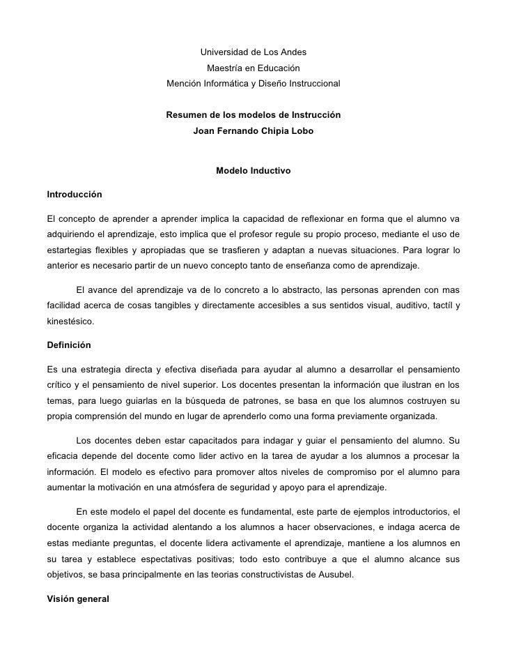 Universidad de Los Andes                                         Maestría en Educación                               Menci...