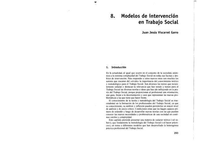 Modelos de intervenciòn del trabajador social