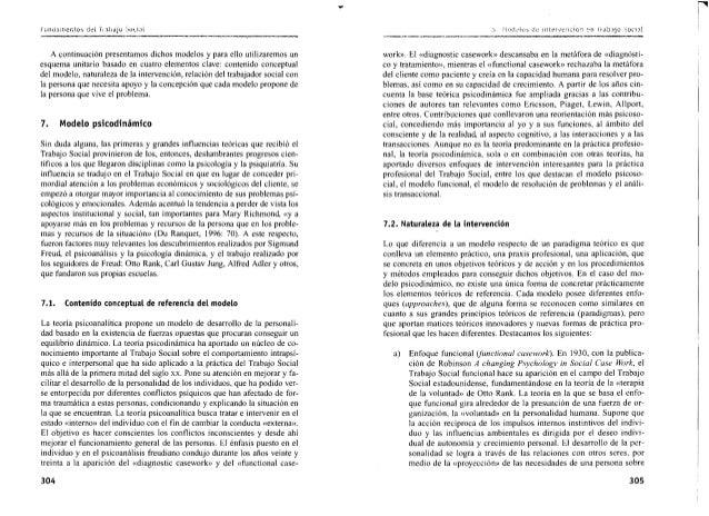 Modelos de intervenci n del trabajador social - Esquema caso practico trabajo social ...