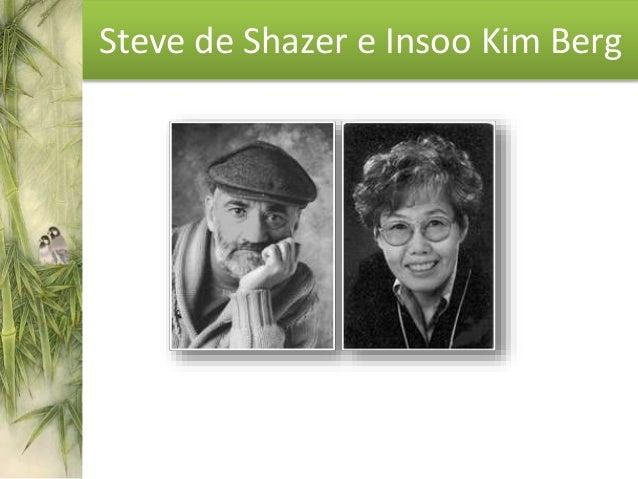 Steve de Shazer • En 1978, fundó el Centro de Terapia Familiar Breve (Wisconsin) con Insoo Kim Berg. • Escribió seis impor...