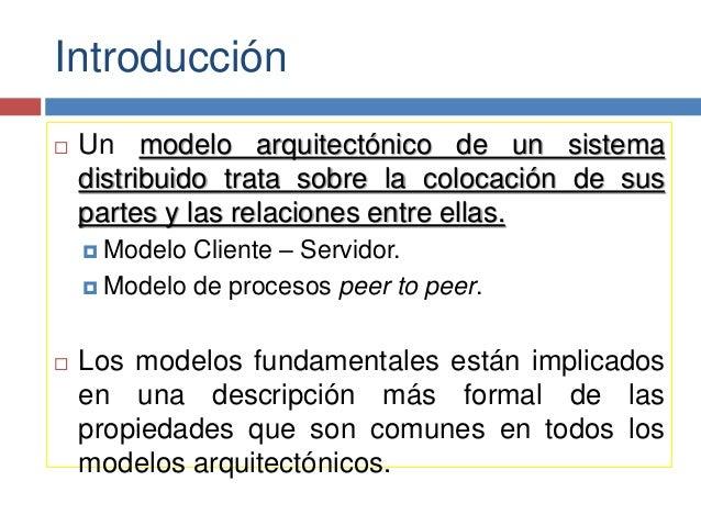 Modelos de los sistemas distribuidos Slide 3