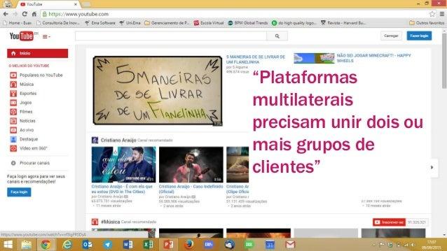 """www.vools.com.br 7 """"Plataformas multilaterais precisam unir dois ou mais grupos de clientes"""""""
