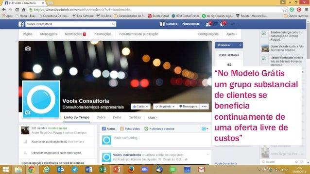 """www.vools.com.br 9 """"No Modelo Grátis um grupo substancial de clientes se beneficia continuamente de uma oferta livre de cu..."""
