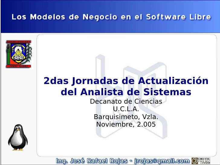 2das Jornadas de Actualización    del Analista de Sistemas         Decanato de Ciencias               U.C.L.A.          Ba...