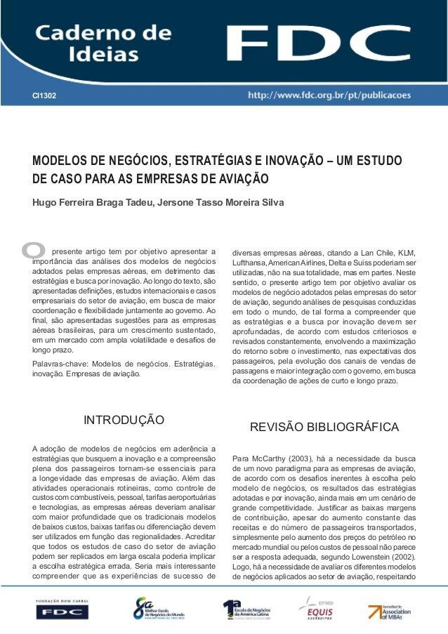 CI1302      Gestão Estratégica do Suprimento e o Impacto no      Desempenho das       Empresas BrasileirasModelos de Negóc...