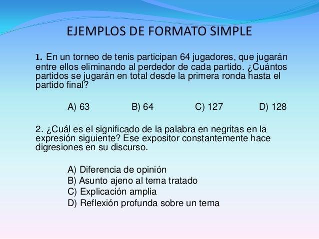 *1. Se sugiere incluir decuatro a seis elementoscuando se ordenanenunciados, y hastaocho cuando sonpalabras.2. En el lista...