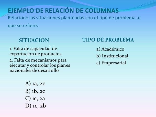 EJEMPLO DE RELACIÓN DE COLUMNASRelacione los tipos de diseño con las características correspondientesDISEÑOS CARACTERÍSTIC...