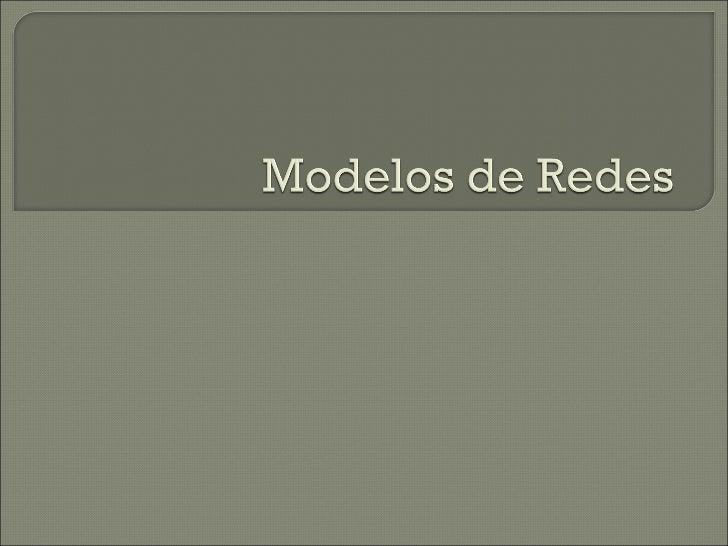 Modelos de redes [Investigación de Operaciones] Slide 1