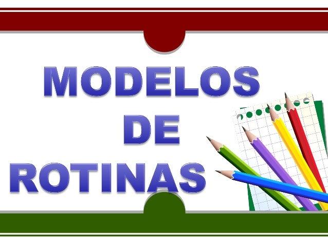 Modelos de rotinas - Unidade 2