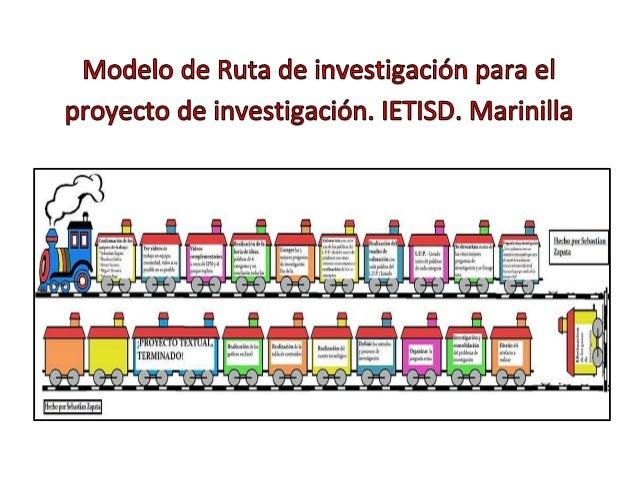 Modelos de rutas de investigación ietisd