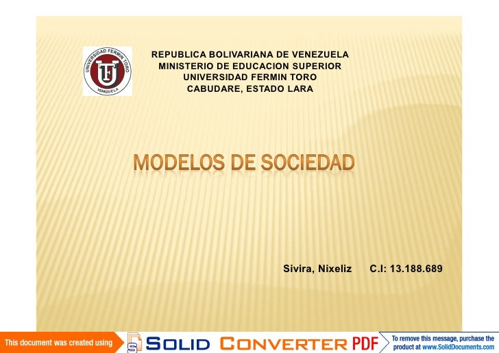 Modelos de sociedad