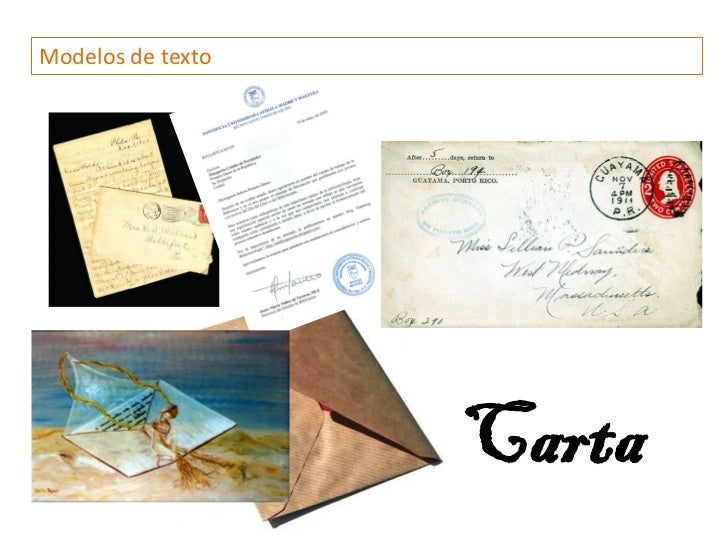 Modelos de texto                   Carta