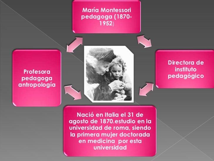  Lapedagogía de María Montessori se basa en seis principios fundamentales: autonomía, independencia, capacidad de elegir...