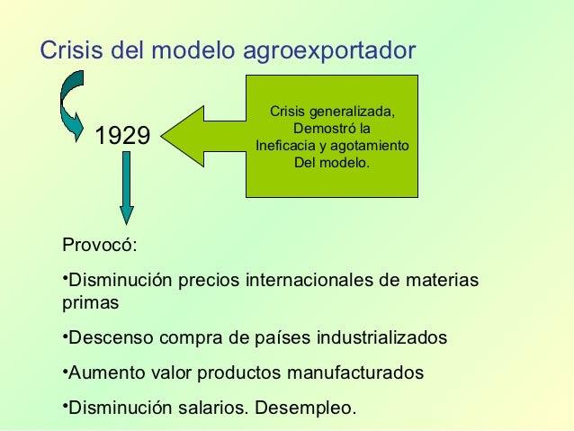 1940 - 1950              Auge económico latinoamericano               Originado en la necesidad de superar la crisis de añ...